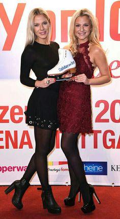 Cheyenne & Valentina Pahde in tights / pantyhose