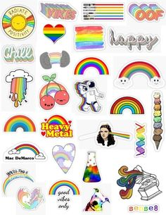 Sometimes everything can be rainbows and unicorns so enjoy every moment of it Cause eu never know the next time that moment will come. Tumblr Stickers, Phone Stickers, Cute Stickers, Printable Stickers, Planner Stickers, Diy Phone Case, Iphone Cases, Accessoires Iphone, Aesthetic Stickers