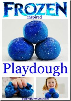 Disney FROZEN Playdough recipe #disney #disneykids #frozen #playdough #preschool #play