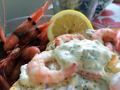 Denne rekedressingen tar rekemåltidet til nye høyder Nye, Food Inspiration, Shrimp, Seafood, Food And Drink, Sea Food, Seafood Dishes