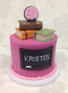 Teacher cake from The Cupcake Shoppe in Raleigh.