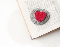 Crochet Covered StoneValentine's Day Lace by LittleKnittedThing, $27.00