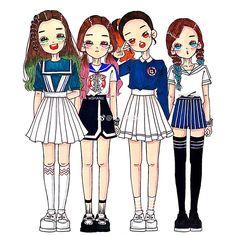 """doodles and sketches"" Park Sooyoung, Kpop Girl Groups, Kpop Girls, Seulgi, Red Velvet, Rv Wallpaper, Kpop Drawings, Chibi Girl, Korean Art"