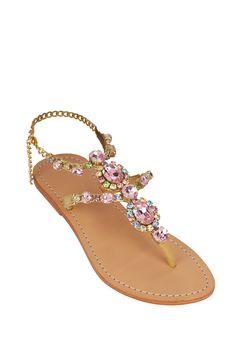 8e503341a44d70 Mystique Rose jeweled flat sandals Lalunacouture.com  https   www.lalunacouture.
