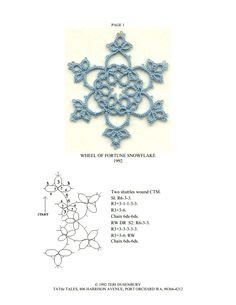 Tattle BAJKI Tatting wzory: Wzór Snowflake Tatting Wheel of Fortune Crochet Snowflakes, Snowflake Pattern, Crochet Doilies, Shuttle Tatting Patterns, Needle Tatting Patterns, Tatting Jewelry, Tatting Lace, Lace Patterns, Crochet Patterns