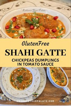 Stuffed Chickpea Flour Dumplings in Rich Tomato Nut Gravy – Shahi Gatte Entree Recipes, Indian Food Recipes, Dinner Recipes, Dinner Ideas, Vegetarian Recipes For Beginners, Gluten Free Recipes, Vegetarian Curry, Vegetarian Meals, Rajasthani Food