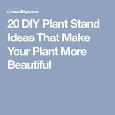 20 DIY Plant Stand Ideas That Make Your Plant More Beautiful