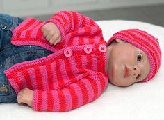 Stricken on pinterest newborn knit hat newborn beanie for Strickanleitung strickjacke einfach