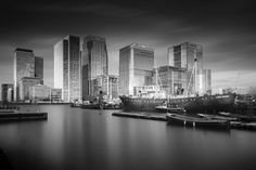 London Fine Art Photo Print: London Dock and by LongExposureLondon