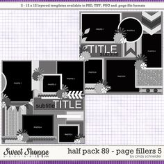 Cindy's Layered Templates - Half Pack 89 Page Fillers 5 by Cindy Schneider