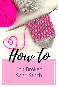 How to Knit Broken Seed Stitch :: On the Needles Learn how to knit broken seed s. How to Knit Broken Seed Stitch :: On the Needles Learn how to knit broken seed stitch, a simple tex Knitting Stitches, Knitting Designs, Knitting Socks, Knitting Projects, Hand Knitting, Two Color Knitting Patterns, Crochet Socks, Knitting Tutorials, Knitted Slippers