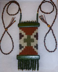 """Tapestry"" - 2012 - Adjustable length, Gift to Friend.  Hand woven, handwoven, weaving, weave, needleweaving, pin weaving, woven necklace, fashion necklace, wearable art, fiber art."