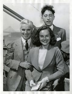 Charles Chaplin, Jean Cocteau, and Paulette Goddard on steamer in East Asia — Wow, what were those cocktail hour conversations like?!?