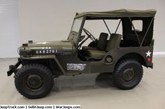 1951 Jeep Willys M38 Military Frame Off Restoration, One of a kind!! It's a perfect sample of a true collectable. Restoration cost over $70K, on this beautiful Jeep.