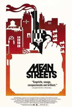 Mean Streets 1973~You see, I borrow money all over this neighborhood, left and right from every BODY, I never pay them back. So, I can't borrow no money from nobody no more, right? So, who would that leave me to borrow money from but you? I borrow money from you, because you're the only jerk-off around here who I can borrow money from without payin' back, right? You know, 'cause that's what you are, that's what I think of you: a jerk-off.