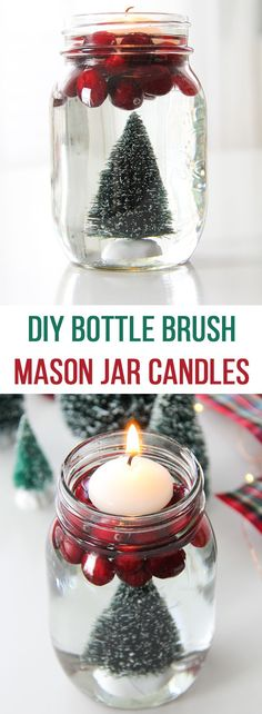 DIY Bottle Brush Mas