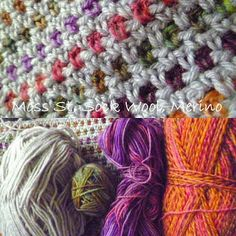 Crochet Moss Stitch -- Love this idea for that one skein of Varigated Yarn you HAD TO HAVE.