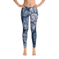 f3abcb0129b89 Items similar to Hawaii Flowers Leggings - Hawaii Leggings - Gift for Her -  Women Printed Leggings - Women Floral Leggings - Workout Leggings - Yoga ...