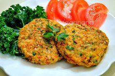Hambúrguer de Arroz e Cenoura sem Glúten - Veganana