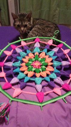God's Eye Craft, Mobiles, Peg Loom, Gods Eye, Boho Wall Hanging, Weaving Art, Handmade Decorations, Craft Work, String Art