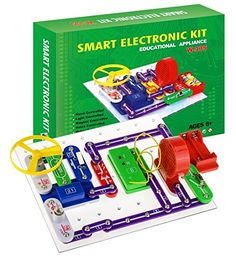 Intsun Electronics Discovery Kit Smart Electronics Block KitEducational Science Kit ToyGreat DIY Building Blocks Electric Circuits for Children Age 8 *** Check out the image by visiting the link. (This is an affiliate link) #EarlyDevelopmentToys