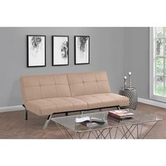 Peace of mind is not hard to find when you retreat to the comfort of the DHP Layton Linen Futon. This stylish yet comfortable piece is an extension of the Layton linen chaise and is ideal for condos, houses or dormitories.