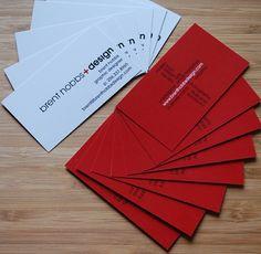 cartão de visita / vermelho