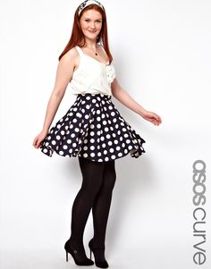 Perfect Polka Dot Skirt (plus size) from ASOS Curve.