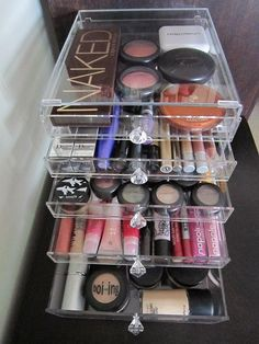 An Acrylic Makeup Draw - 13 Perfect DIY Makeup Organization Ideas