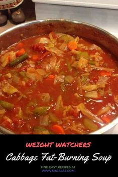 Looking for the best Weight Watchers Soup Recipes with Points? I've got an amazing collection of delicious and healthy WW Freestyle soup recipes! Weight Watchers Cabbage Soup Recipe, Cabbage Soup Recipes, Diet Soup Recipes, Weight Watchers Meals, Healthy Dinner Recipes, Vegetarian Cabbage Soup, Crockpot Cabbage Soup, Healthy Cabbage Recipes, Blender Recipes