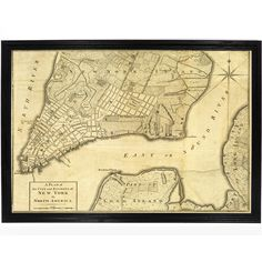1776 Map of New York City, New York