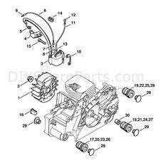 Stihl MS 180 Chainsaw (MS180C-B D) Parts Diagram, Air