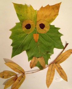 Leaves can form a handy art material for creating innovative crafts. Explore the chic collection of leaf crafts here for making a striking craft this fall. Kids Crafts, Leaf Crafts, Fall Crafts For Kids, Toddler Crafts, Preschool Crafts, Art For Kids, Arts And Crafts, Autumn Leaves Craft, Autumn Crafts