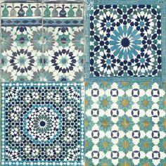 Sapphira Blue Mosaic Tile Wallpaper | Departments | DIY at B&Q