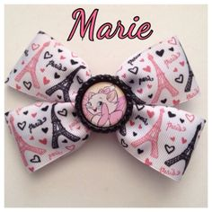 Marie from Aristocats Disney Inspired Paris Eiffel Tower Hair Bow  on Etsy, $6.00