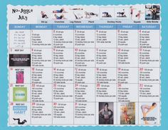 No-Jiggle July Workout Calendar