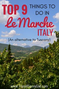 The Italian region of Le Marche has the rolling hills and charm of Tuscany, minus the crowds.  For some of the best exploring of off-the-beaten-path Italy, check out my list of 'Top Things to Do' on the blog!
