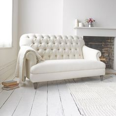 Small Gertie | Classic Button-Back Sofa Gertie Sofa in thatch house fabric - Sofas | Loaf