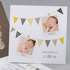 Geburtskarten Cute Yellow : fets, jumeaux, marin in trendy Twin Baby Rooms, Twin Babies, Baby Boy Invitations, Baby Frame, Wedding Announcements, Baby Cards, Baby Shower Parties, Wall Prints, Baby Photos
