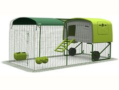 The extension for the Eglu Cube chicken house run. - 6000 kr.