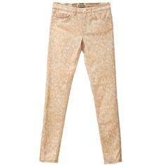 Acne Studios Skin 5 Wall Peach Printed Skinny Jeans