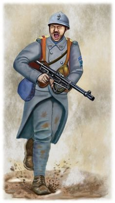 ww1 - Western front , Artois -1918 French gunner by AndreaSilva60