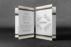 Printable Funeral Program Template by Madhabi Studio on @creativemarket