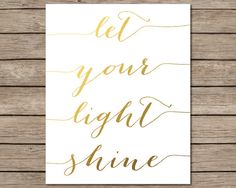 Let Your Light Shine Printable  INSTANT DOWNLOAD by CraftMei