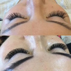 Today I did a Russian volume set on my very first volume teacher. Sadly the photo pictured above was my first try at the volume technique. Anna came to my salon from Kazakhstan Russia and wanted lashes trying her hardest to translate exactly what she wanted and showing me what to do. The photo below is my work almost 2 years later. I continued my education after my training with Anna and have worked hard to perfect a technique that works best for me looking forward to sharing some new tips…