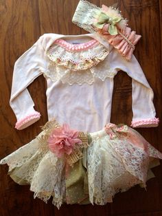 Shabby Chic Birthday Set on Etsy, $65.00