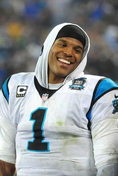 Cam Newton and Longtime Girlfriend Welcome Newborn Son. Cam Newton and Longtime Girlfriend Welcome… Cam Newton Smile, Panther Nation, Panthers Football, Love Your Smile, American Football Players, Dapper Gentleman, Fantasy Football, Fine Men, Carolina Panthers