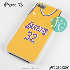 lakers basketball jersey Phone case for iPhone 4/4s/5/5c/5s/6/6 plus