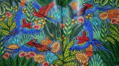 Another #colouring page completed from #milliemarotta #tropicalwonderland. #macaws over the #rainforest. Used #mixedmedia #prismacolor #stabilofineliners #fabercastellfeltpens and  #gelpens  #adultcoloringbook #colouring #coloring #contrast #vibrant  #mixedmedia #gelpen #pencils #felttip #potd #picoftheday #blending #shadeandlight #prismacolor