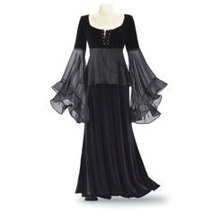 Laurie Cabot Velvet & Chiffon Top: P84539 S - New Age, Spiritual Gifts, Yoga, Wicca, Gothic, Reiki, Celtic, Crystal, Tarot at Pyramid Collection